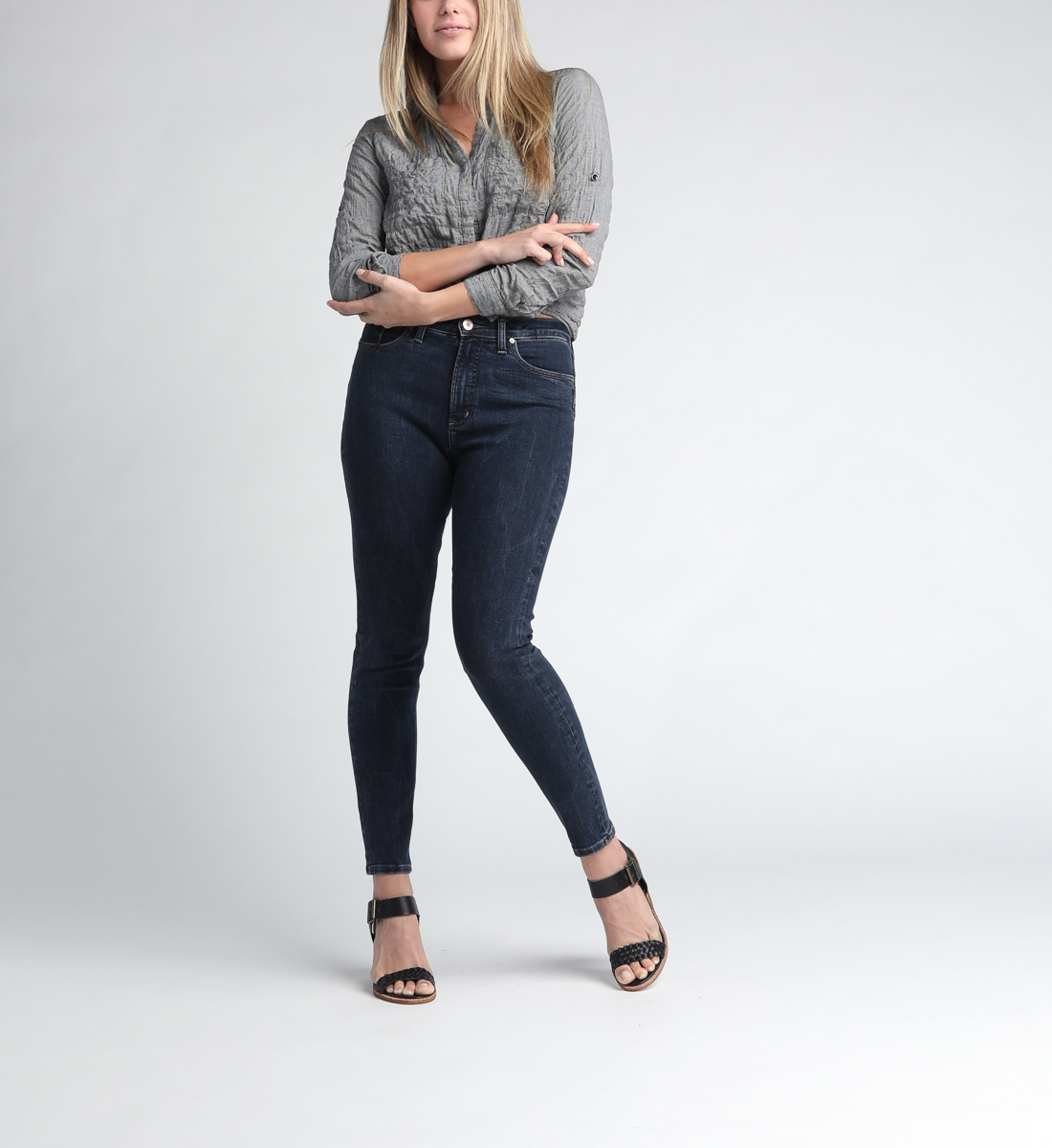 Calley Super High Rise Skinny Leg Jeans Front