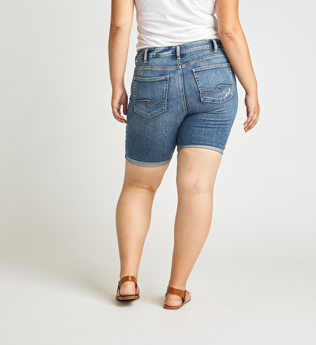 Avery High Rise Bermuda Short Plus Size Back