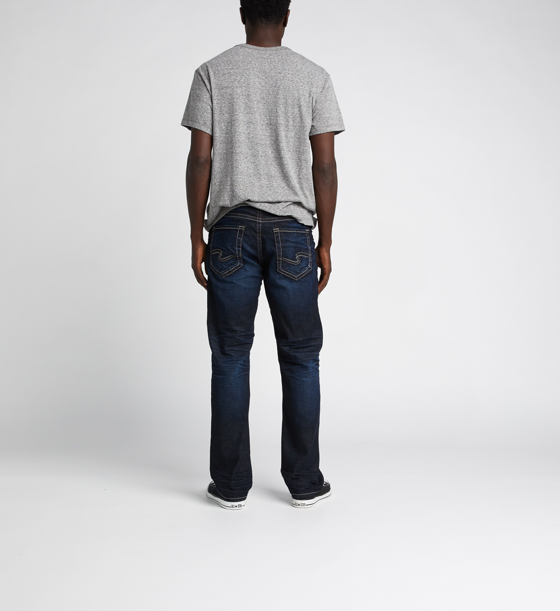 Grayson Easy Fit Straight Jeans,Indigo Back
