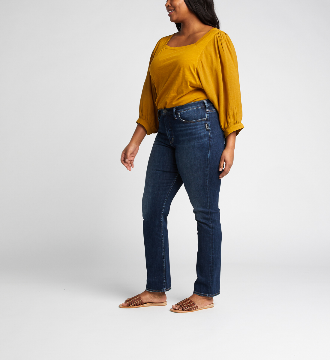 Calley Super High Rise Straight Leg Jeans Plus Size, , hi-res