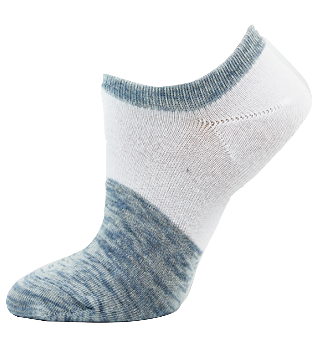 Color Block Low-Cut Ankle Womens Socks,Light Denim Front