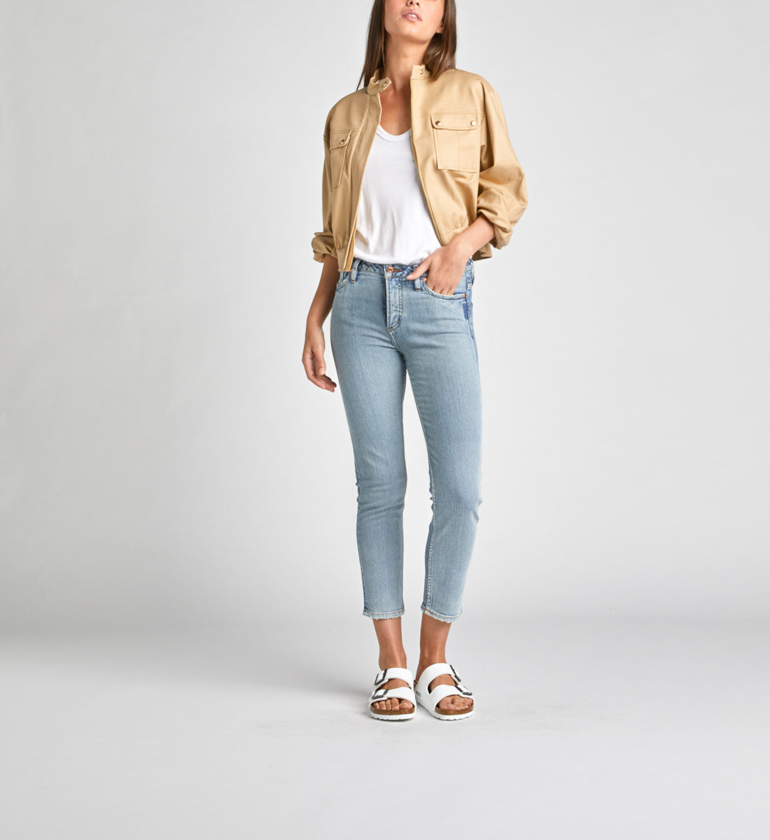 High Note High Rise Slim Crop Jeans Front