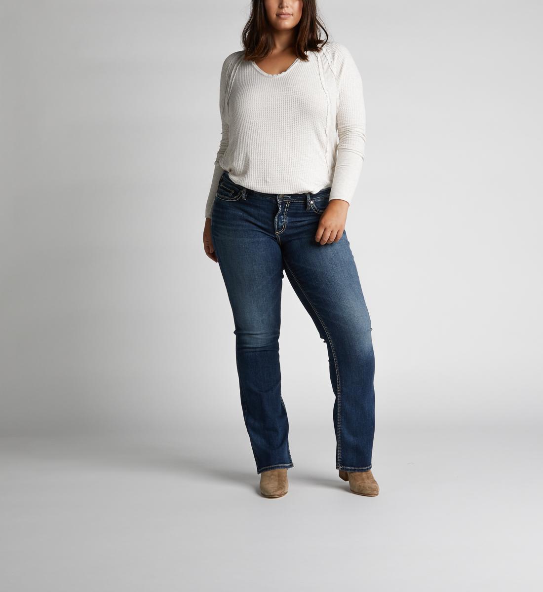 2260dd0d Suki Mid-Rise Curvy Slim Bootcut Jeans | Silver Jeans