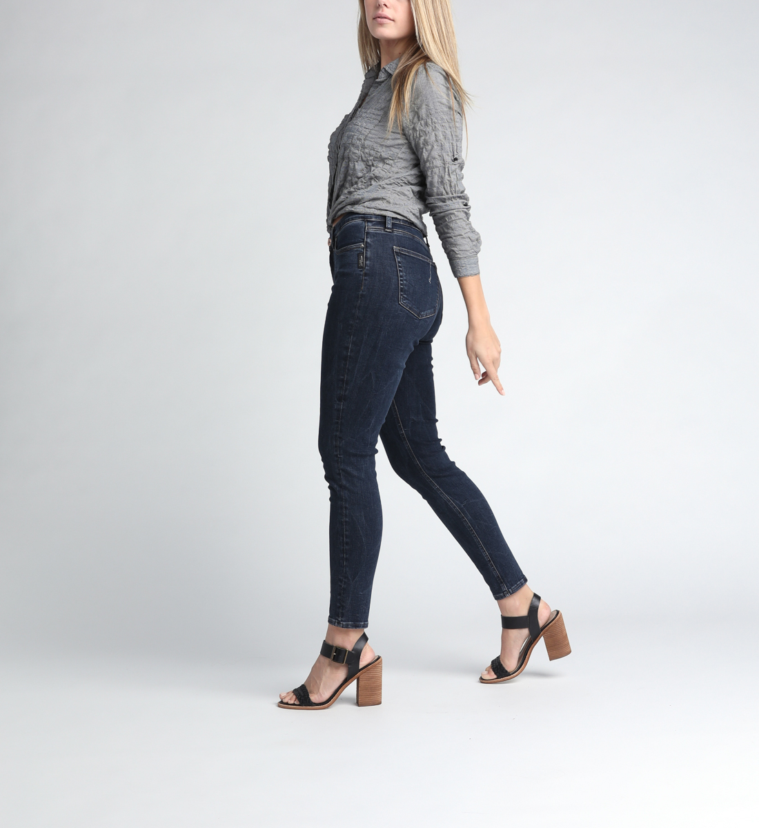 Calley Super High Rise Skinny Leg Jeans Side