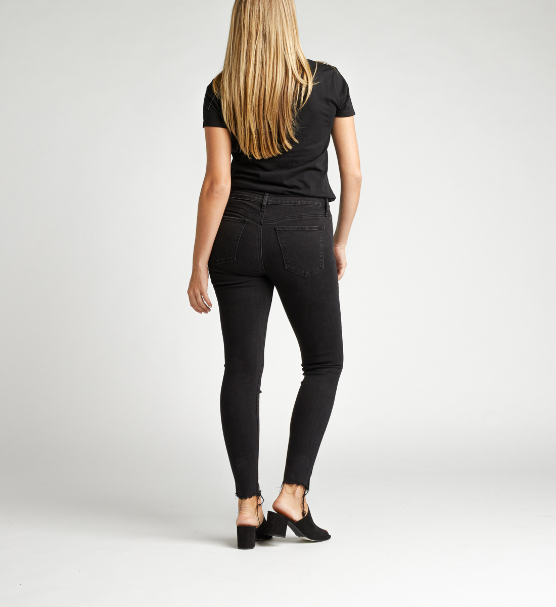 Avery High Rise Skinny Jeans Back
