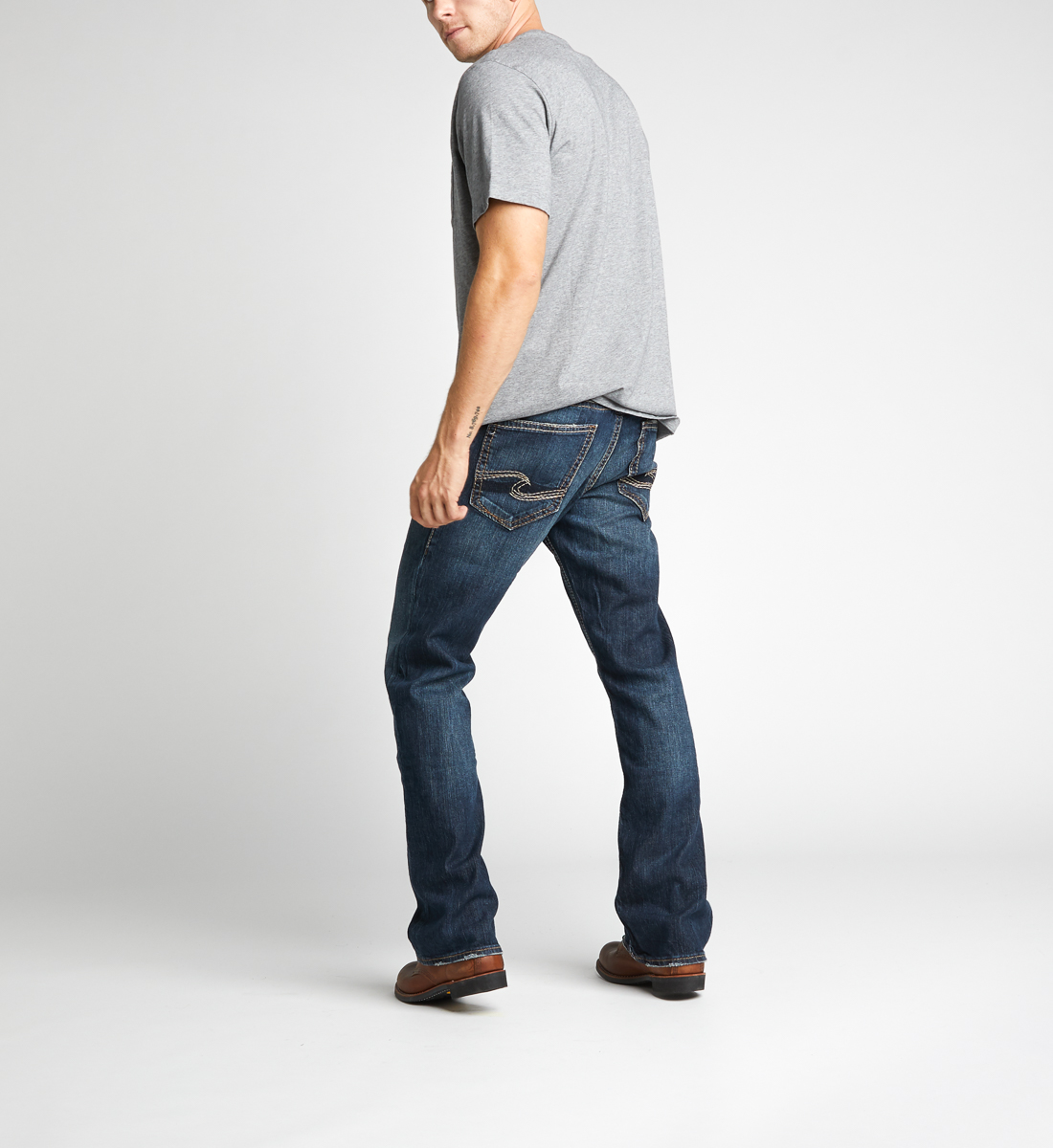 Zac Relaxed Fit Straight Leg Jeans,Indigo Back