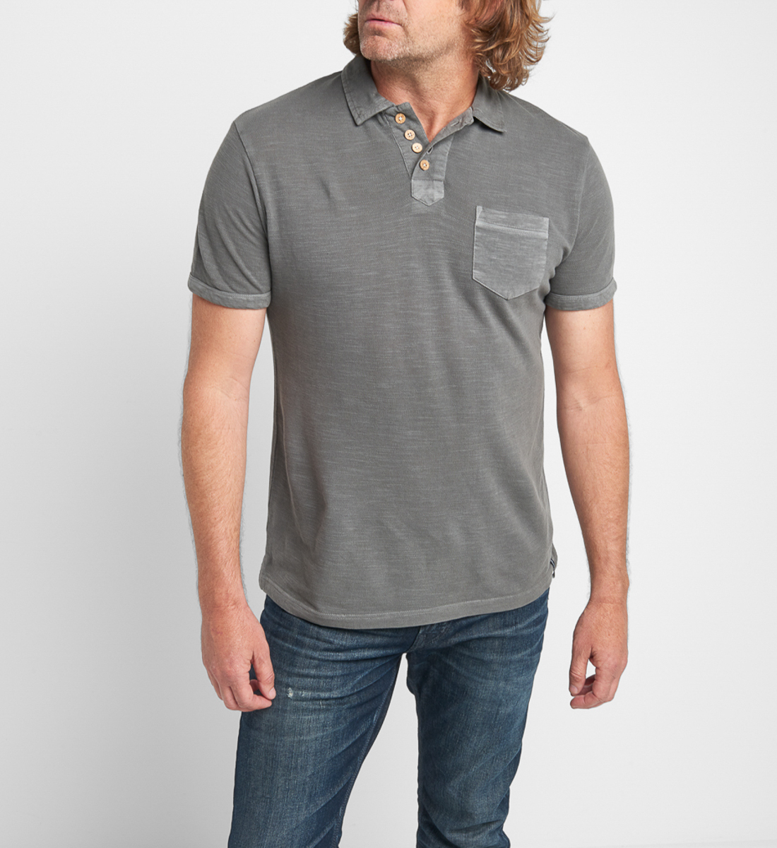 Brent Short-Sleeve Polo Front