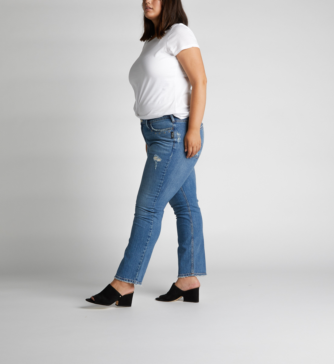 Frisco High Rise Straight Leg Jeans Plus Size, , hi-res