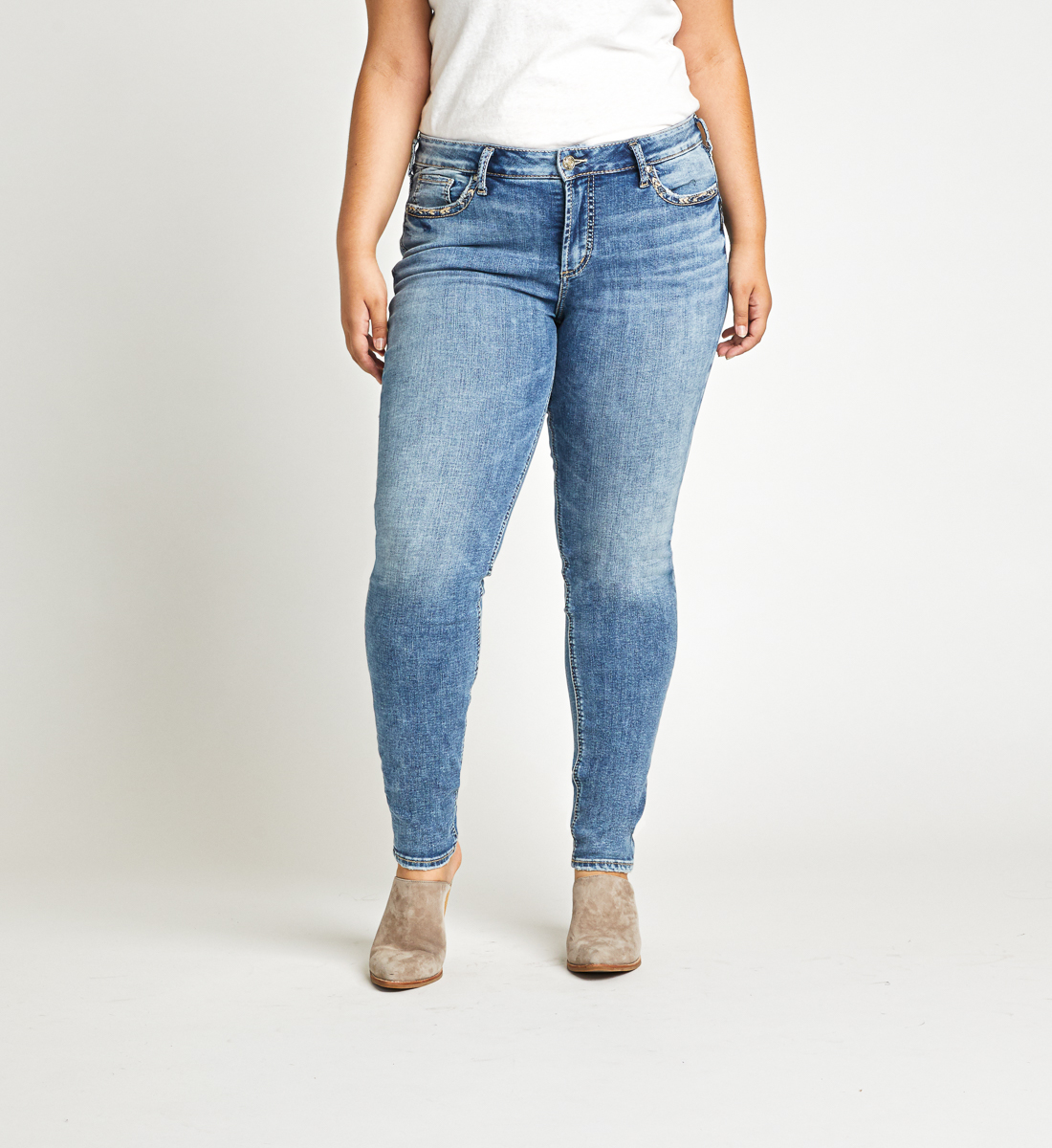 Elyse Skinny Leg Jeans Plus Size Front