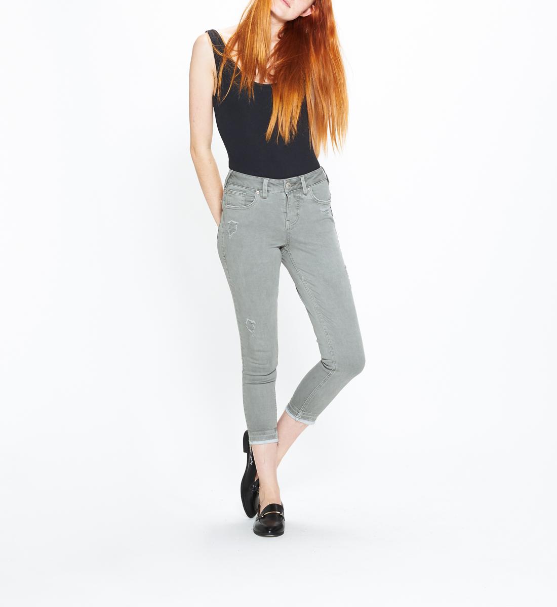 5db91127 Avery Skinny Crop Color Wash, Sage, hi-res. SKU # L44908SAC018. Silver Jeans