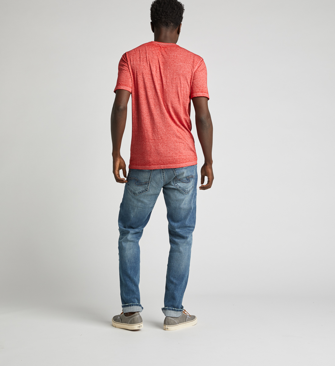 Kaleo Henley Tee,Red Side