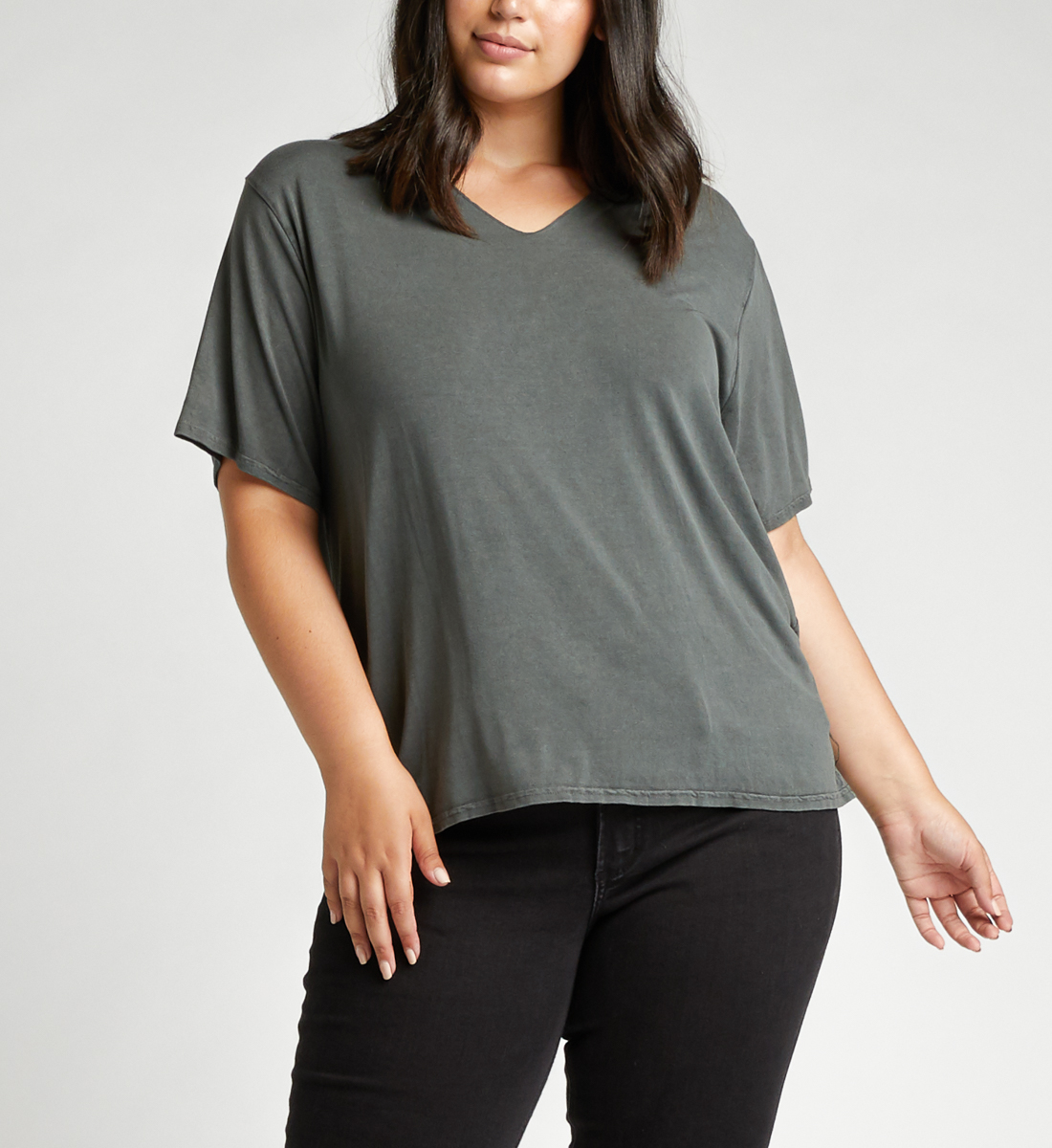 Arizona Top Plus Size,Black Front