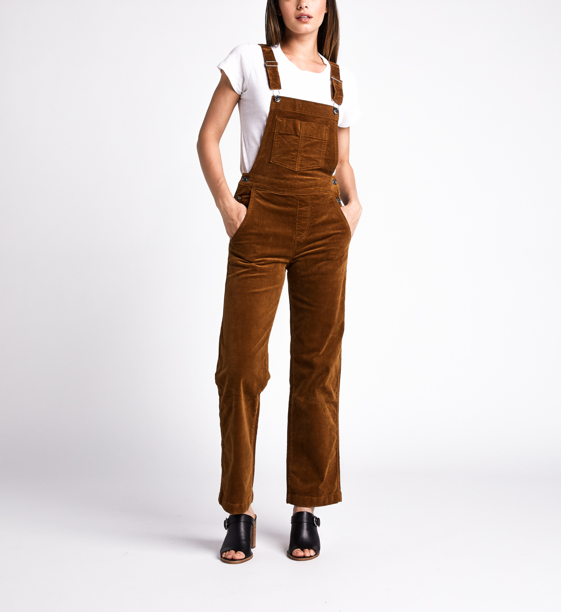 Overall Straight Leg Pants,Caramel Front