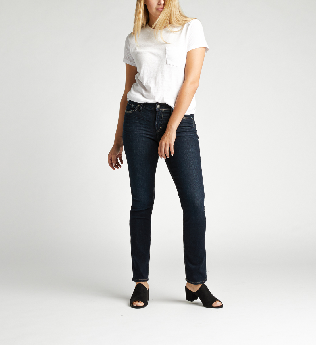 Avery High Rise Straight Leg Jeans Front