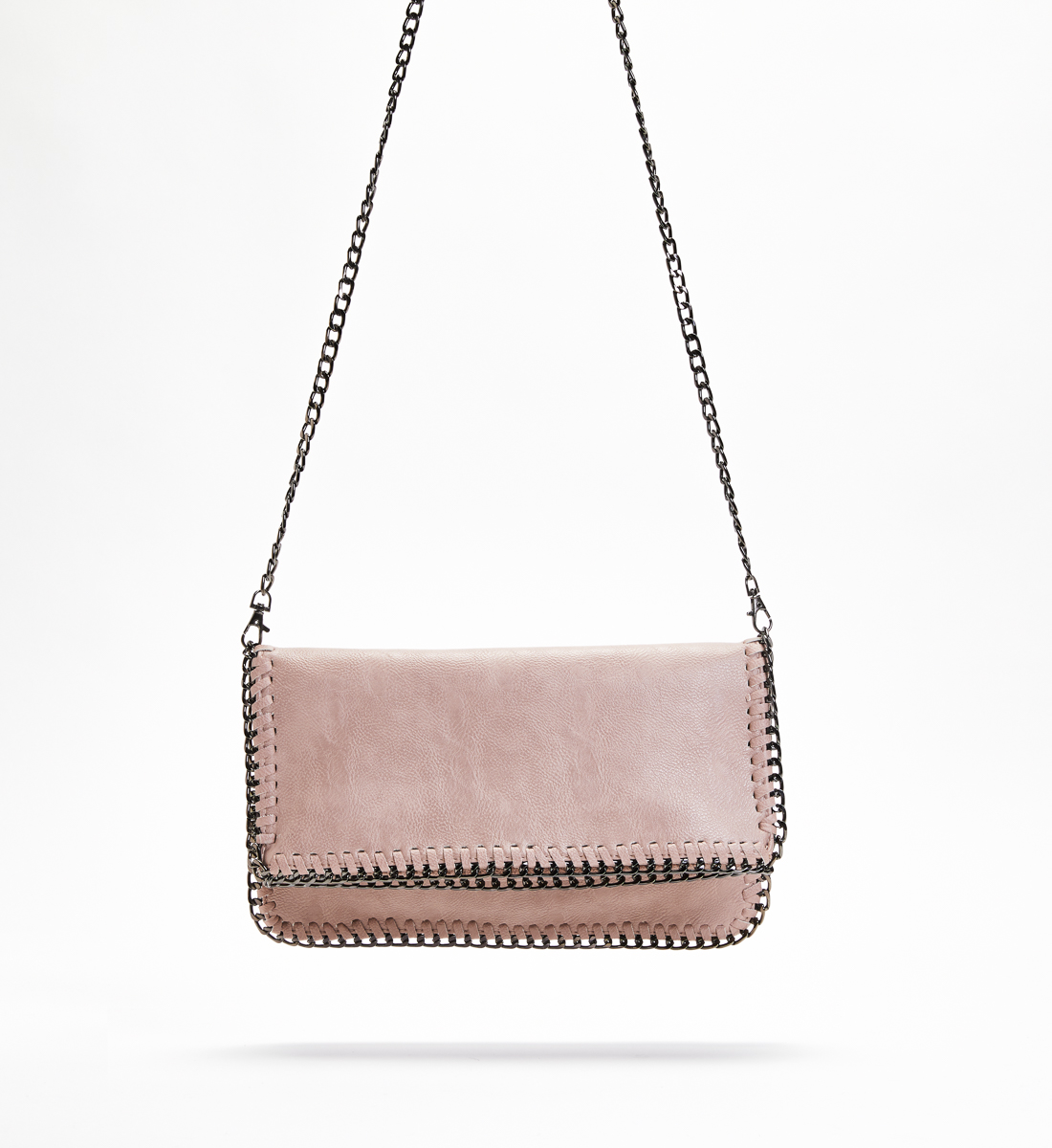 Chain-Trim Crossbody Clutch, , hi-res