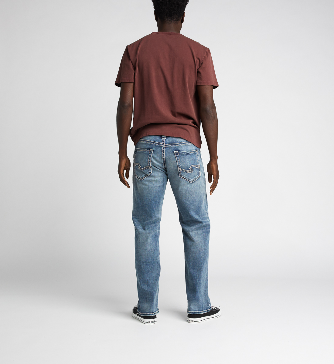 Zac Relaxed Fit Straight Jeans,Indigo Back