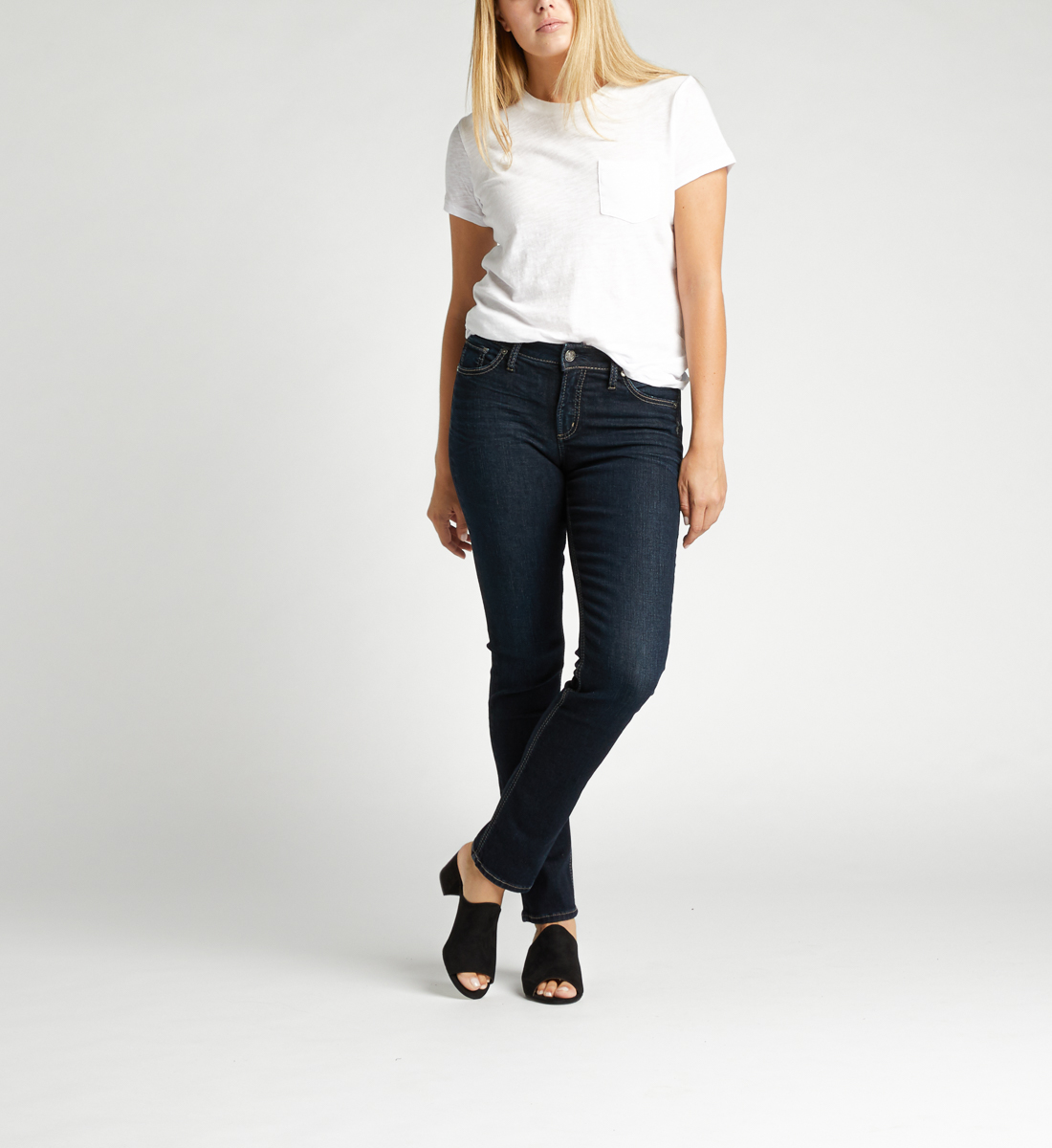 Avery High Rise Straight Leg Jeans Alt Image 1