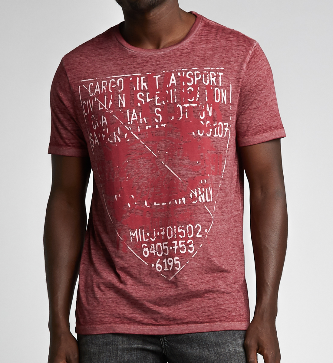 Bryce Short-Sleeve Tee, Red, hi-res