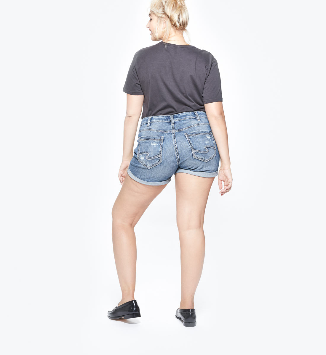 Sam Mid Rise Boyfriend Short Plus Size, , hi-res