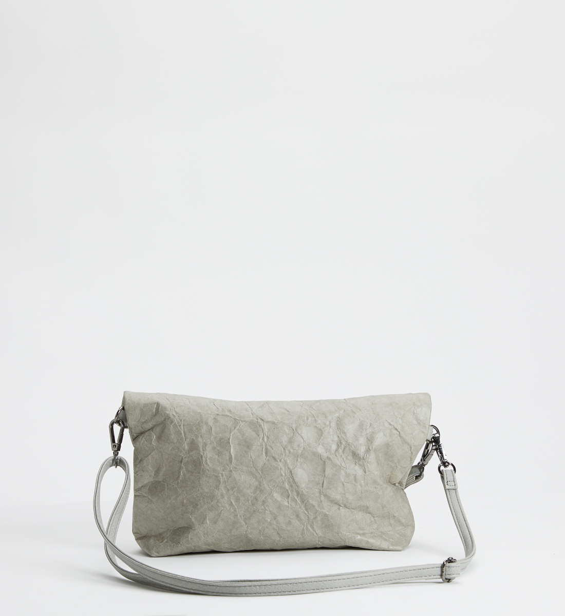 Recycled Paper Convertible Crossbody, Grey, hi-res