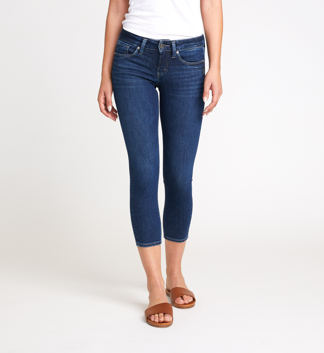 Suki Mid Rise Skinny Crop Jeans Front