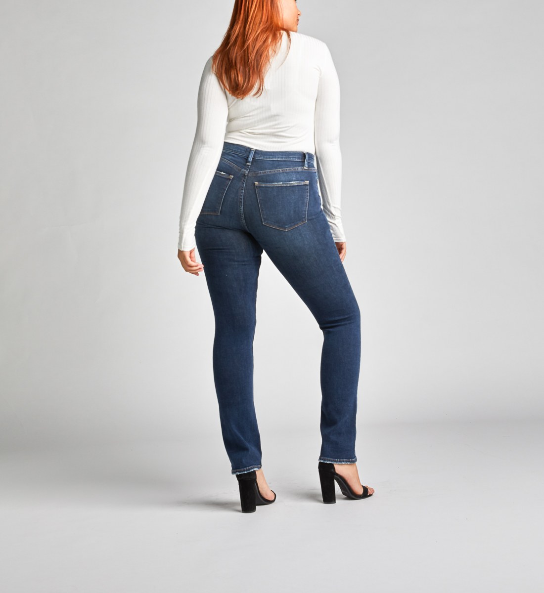 Calley Super High Rise Straight Leg Jeans Back