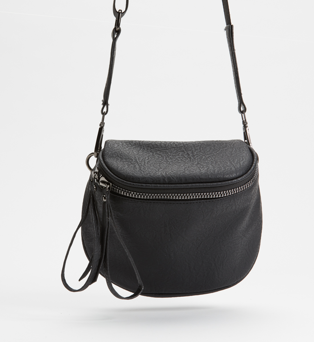 Zip Saddle Bag,Black Side