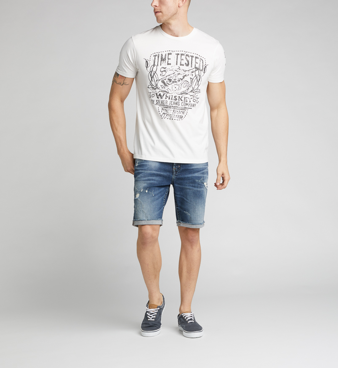 Dax Short-Sleeve Graphic Tee,Warm White Back