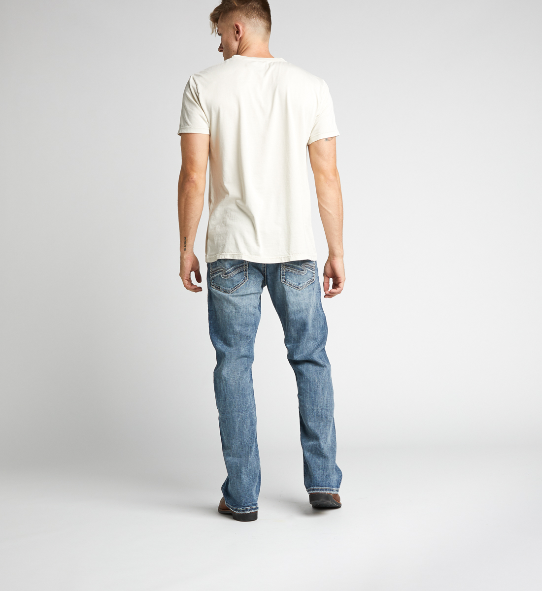 Craig Easy Fit Bootcut Jeans Back