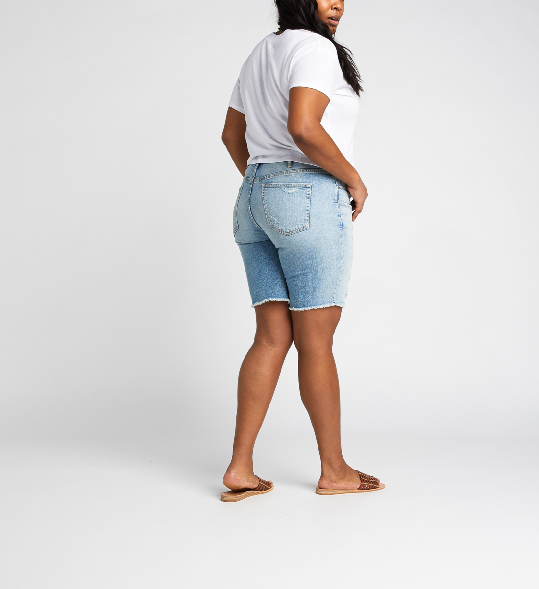 Frisco High Rise Knee Short Plus Size Back