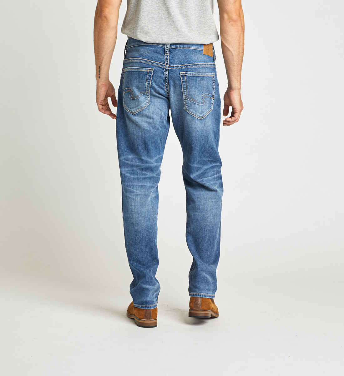 Hunter Athletic Fit Tapered Leg Jeans Back