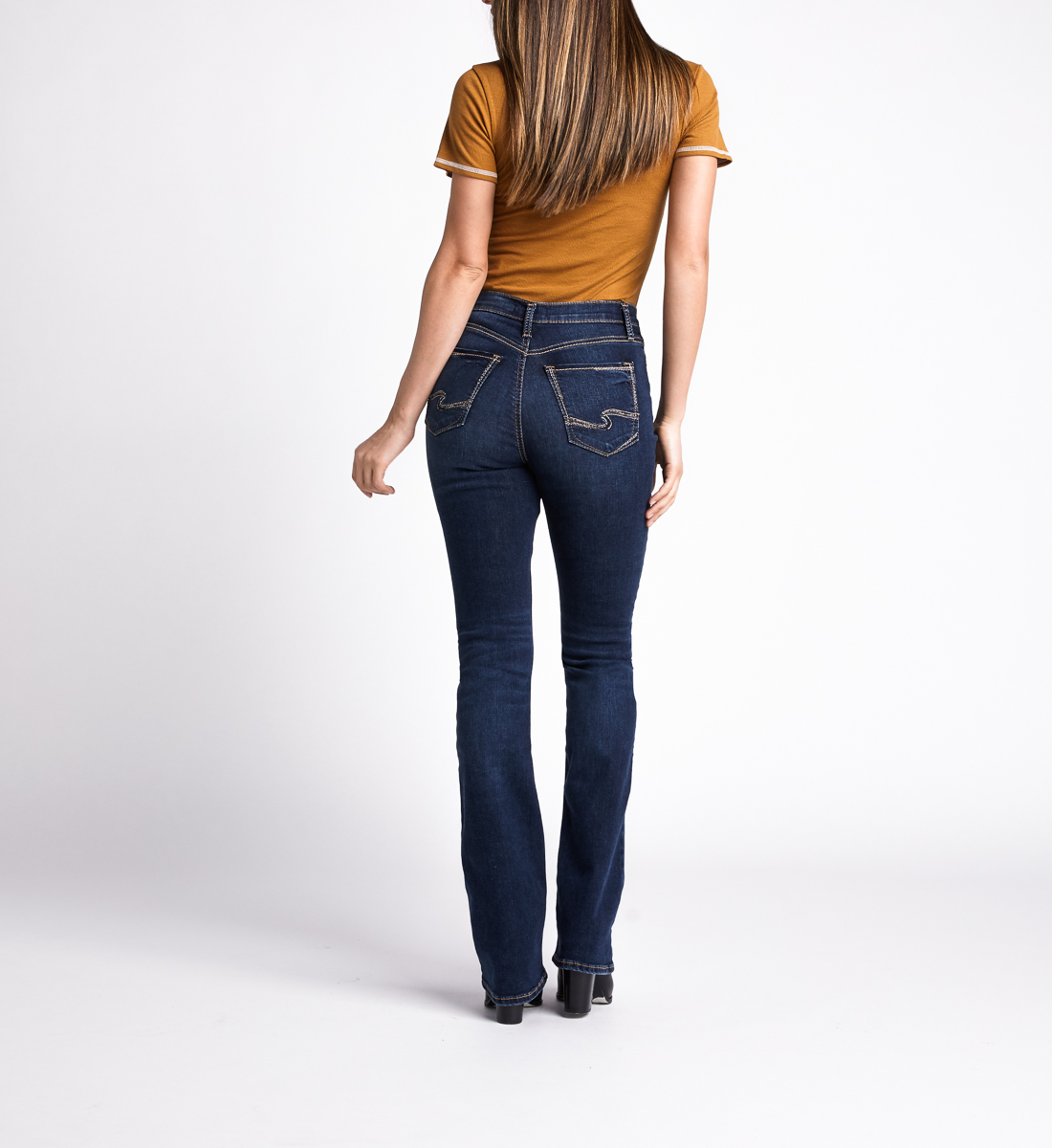 Calley High Rise Slim Bootcut Jeans,Indigo Back