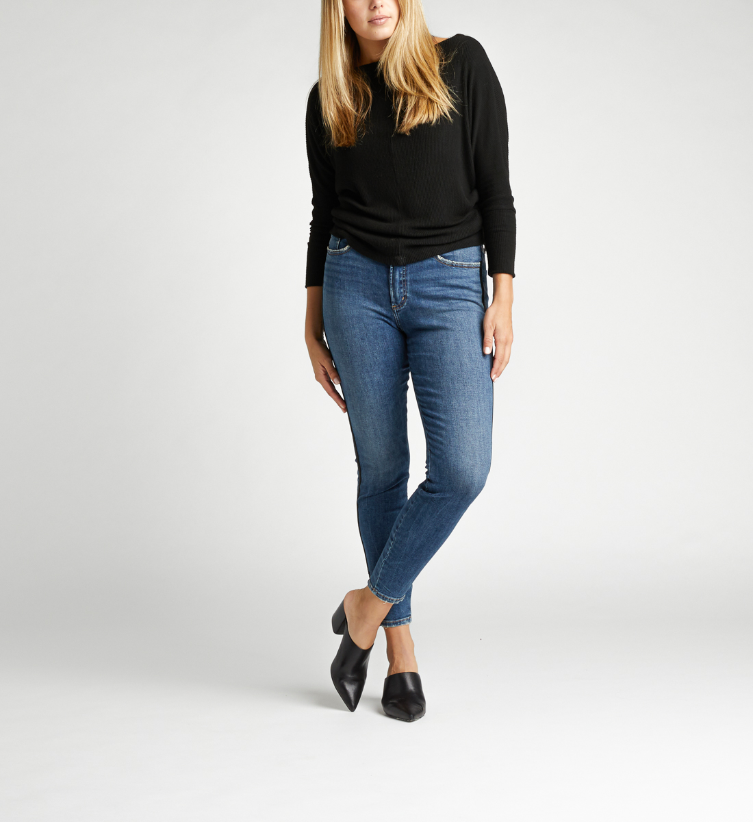 Calley Super High Rise Skinny Jeans Alt Image 1
