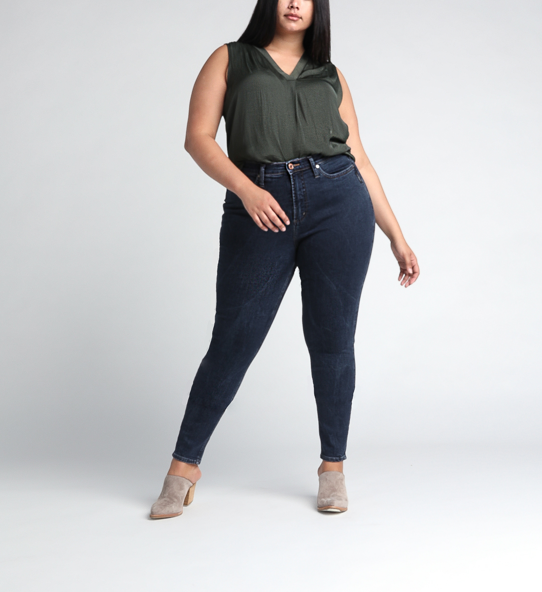 Calley Super High Rise Skinny Leg Jeans Plus Size, , hi-res
