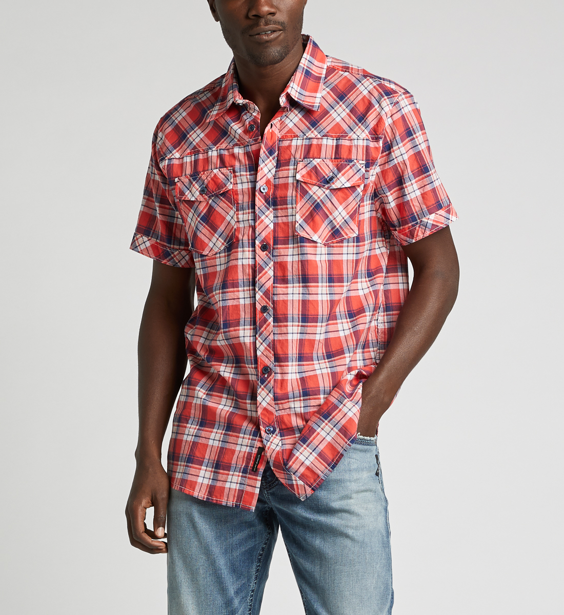 Cassidy Plaid Shirt Front