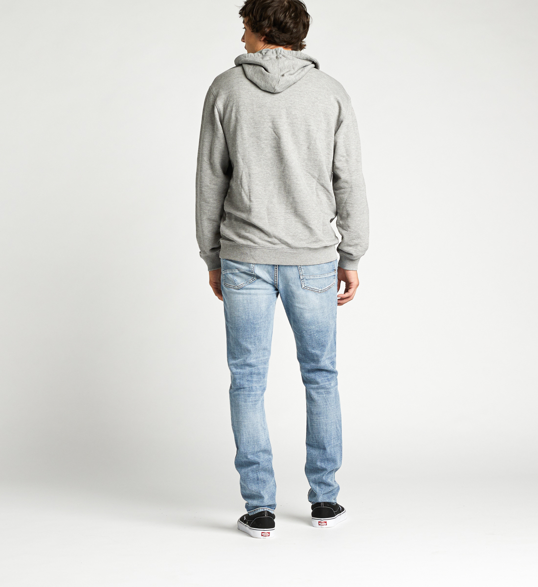 Allenby Unisex Logo Hoodie,Heather Grey Side