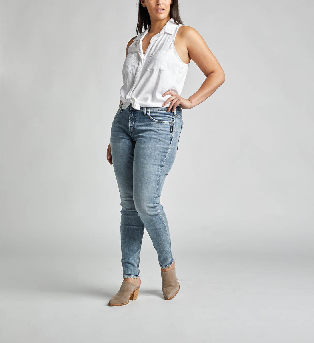 a1321777e30 Avery High Rise Skinny Leg Jeans Plus Size - Silver Jeans CA
