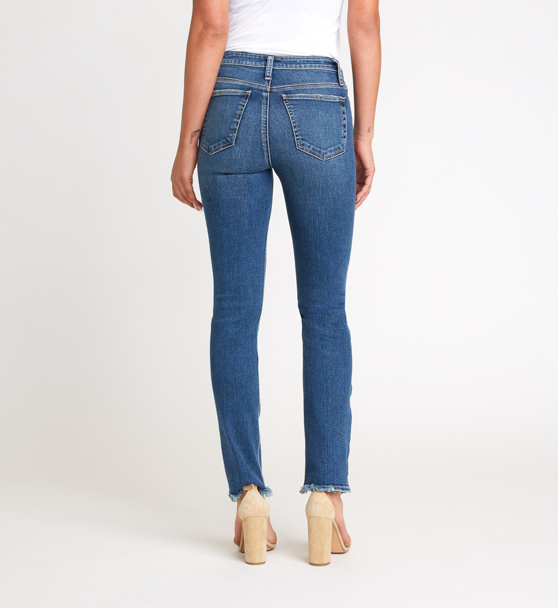 High Note High Rise Slim Leg Jeans Back