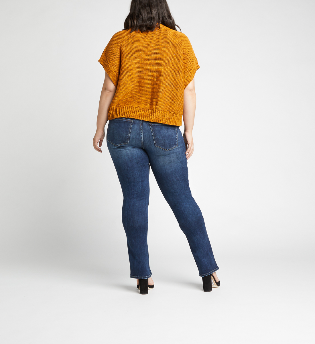 Most Wanted Mid Rise Skinny Bootcut Plus Size Jeans Back