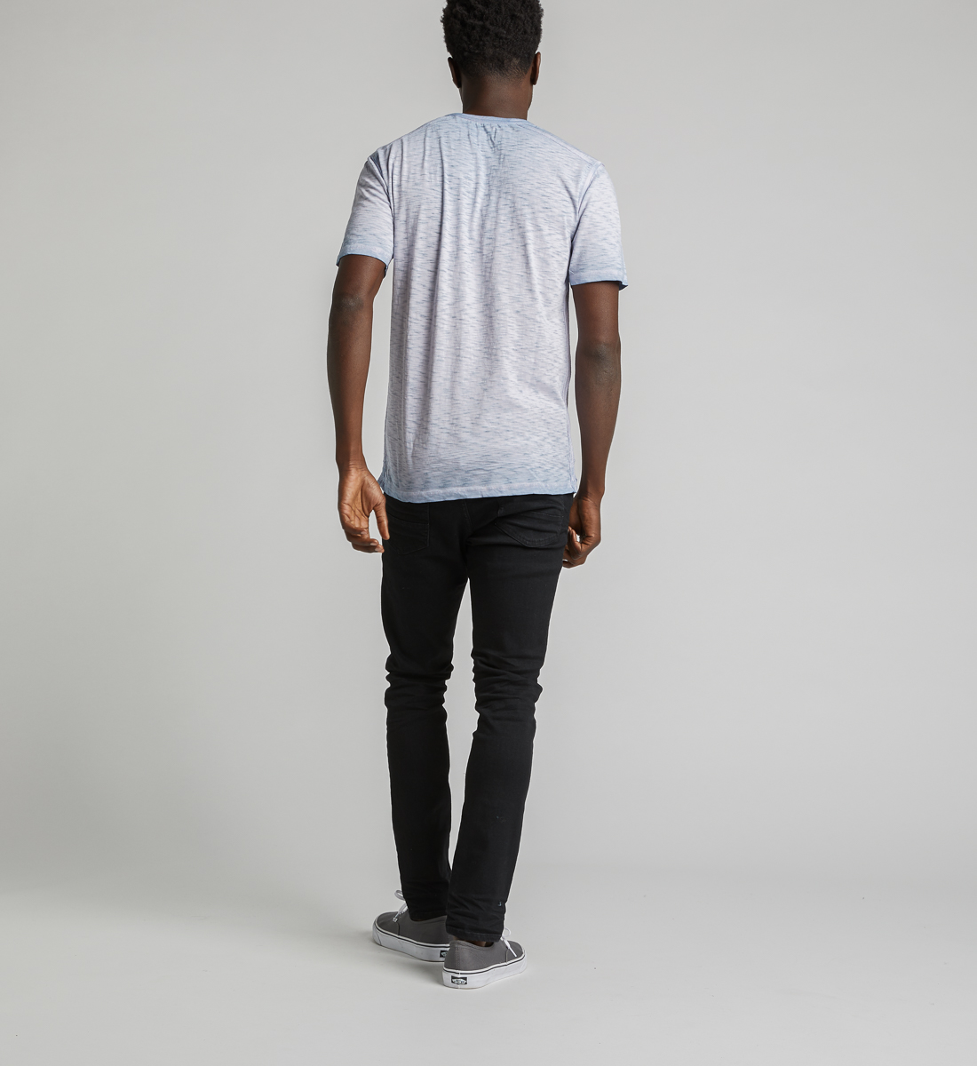 Kane Henley Tee,Light Blue Side