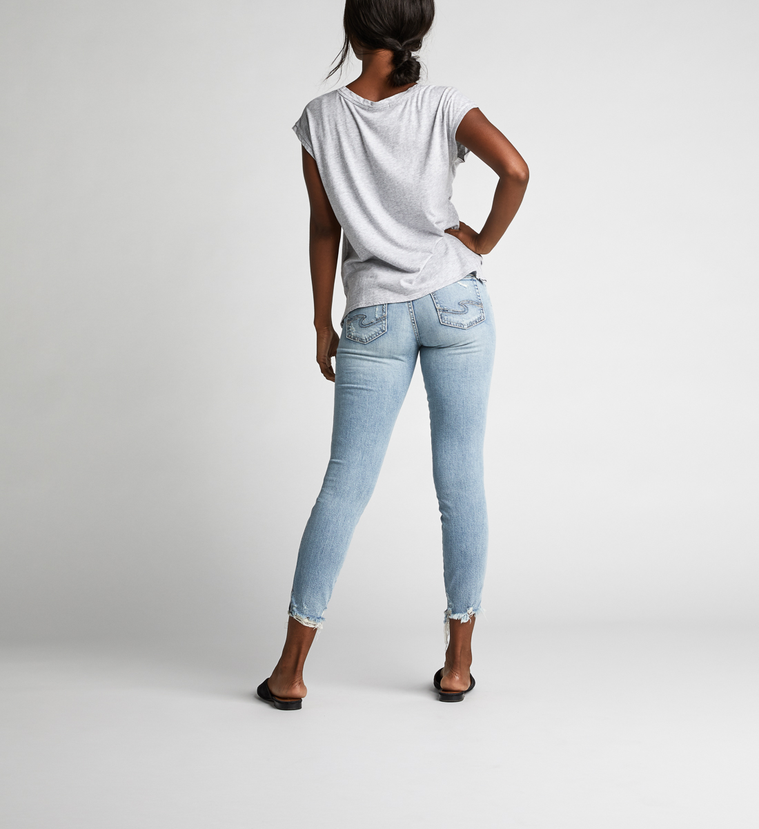 Suki Mid Rise Skinny Crop Jeans Back