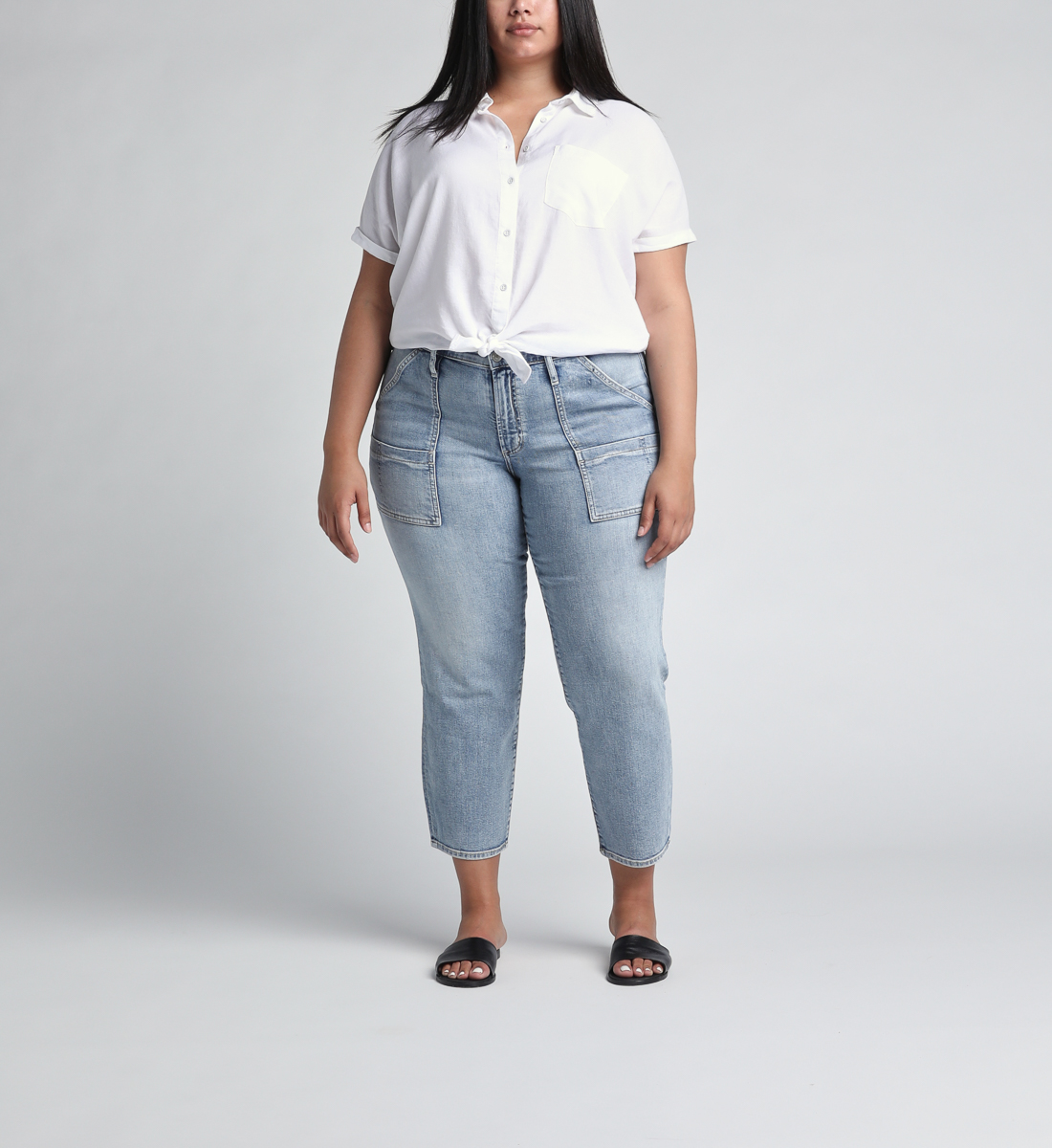 In The Loop Mid Rise Ankle Slim Leg Jeans Plus Size Alt Image 1