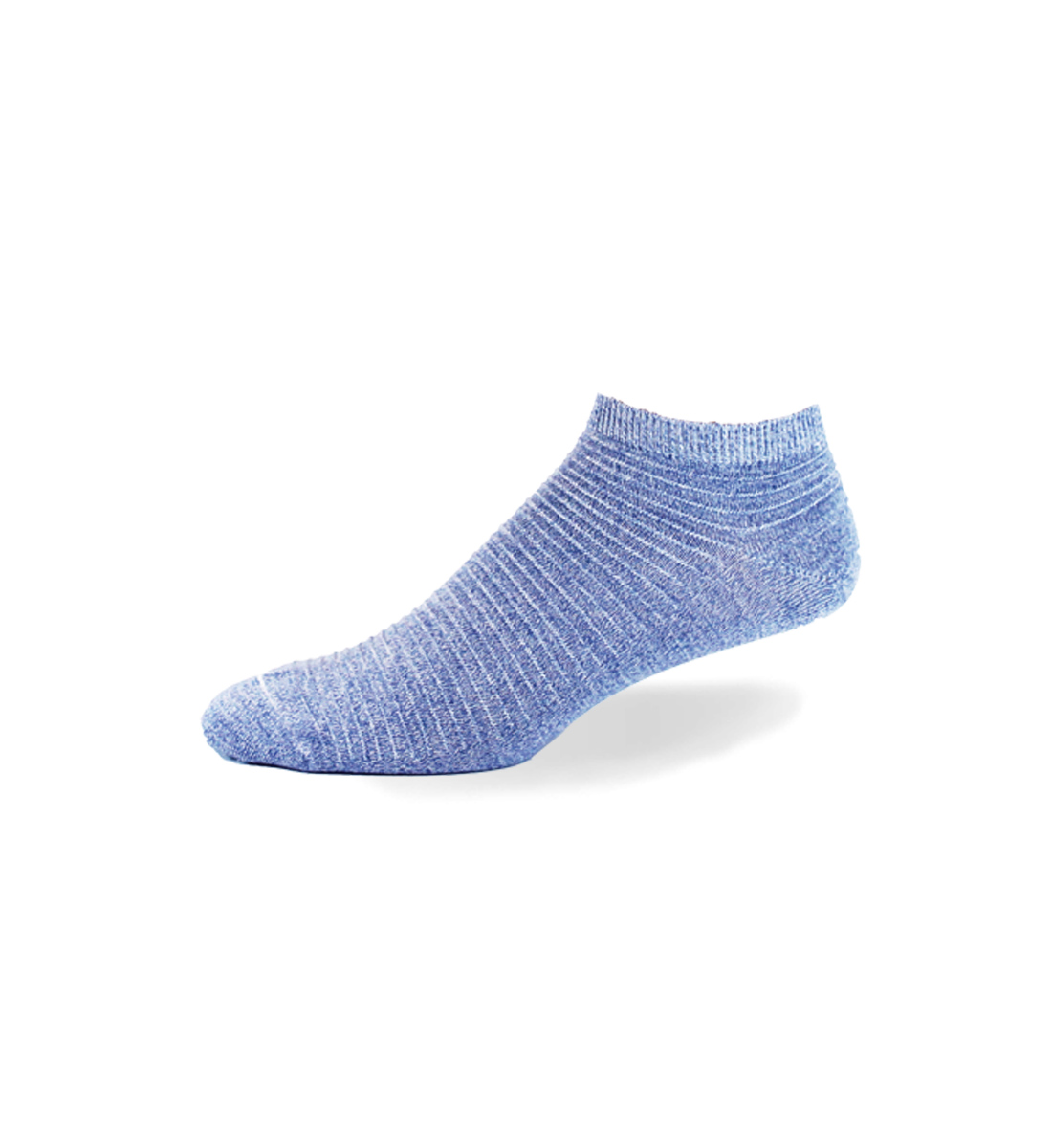 Link Patterned Ankle Men's Socks, Light Denim, hi-res