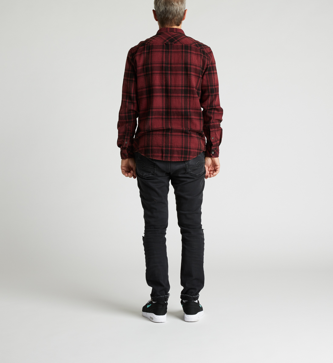 Clement Long-Sleeve Plaid Shirt Side