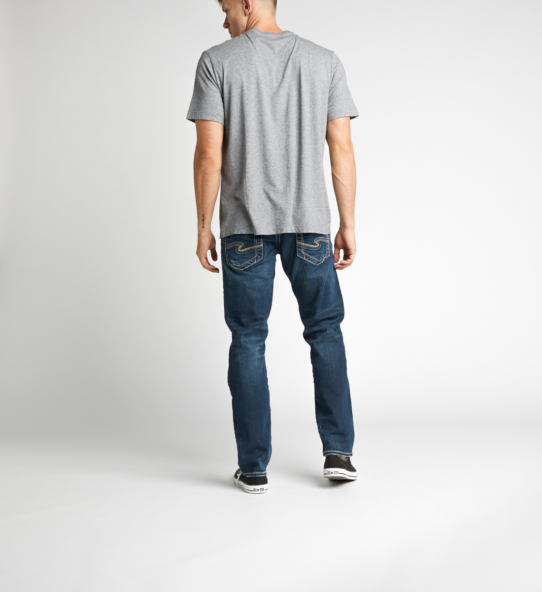 Eddie Relaxed Fit Tapered Leg Jeans Back