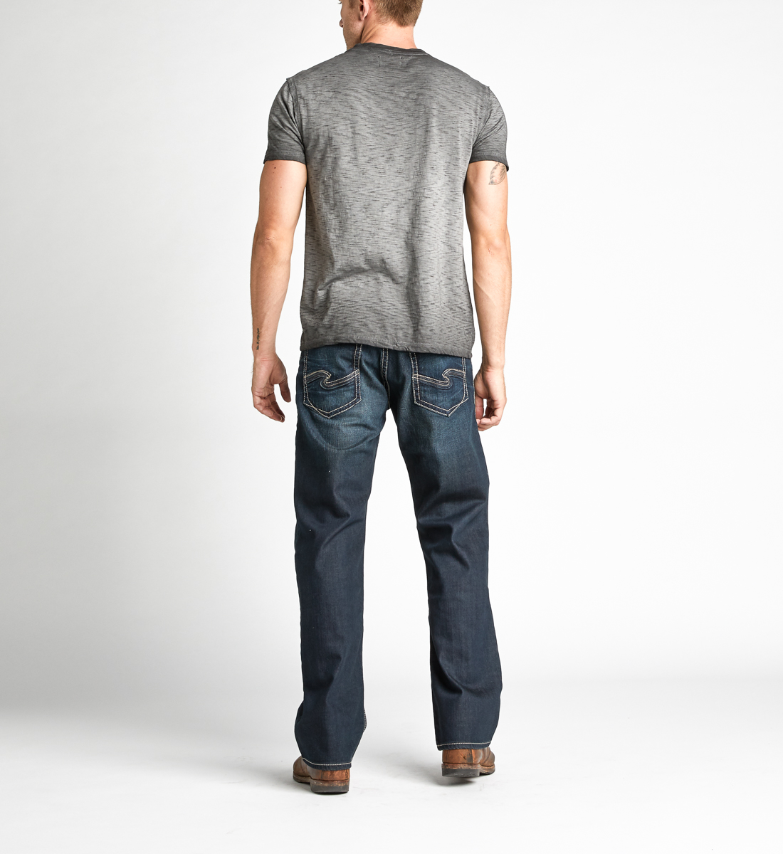 Koby Short-Sleeve Henley, Black, hi-res