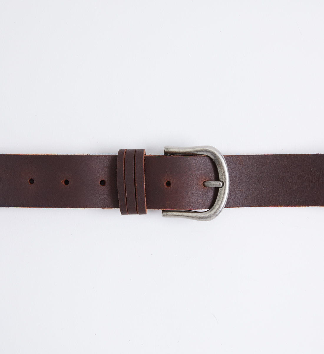 Classic Leather Womens Belt,Dark Brown Side