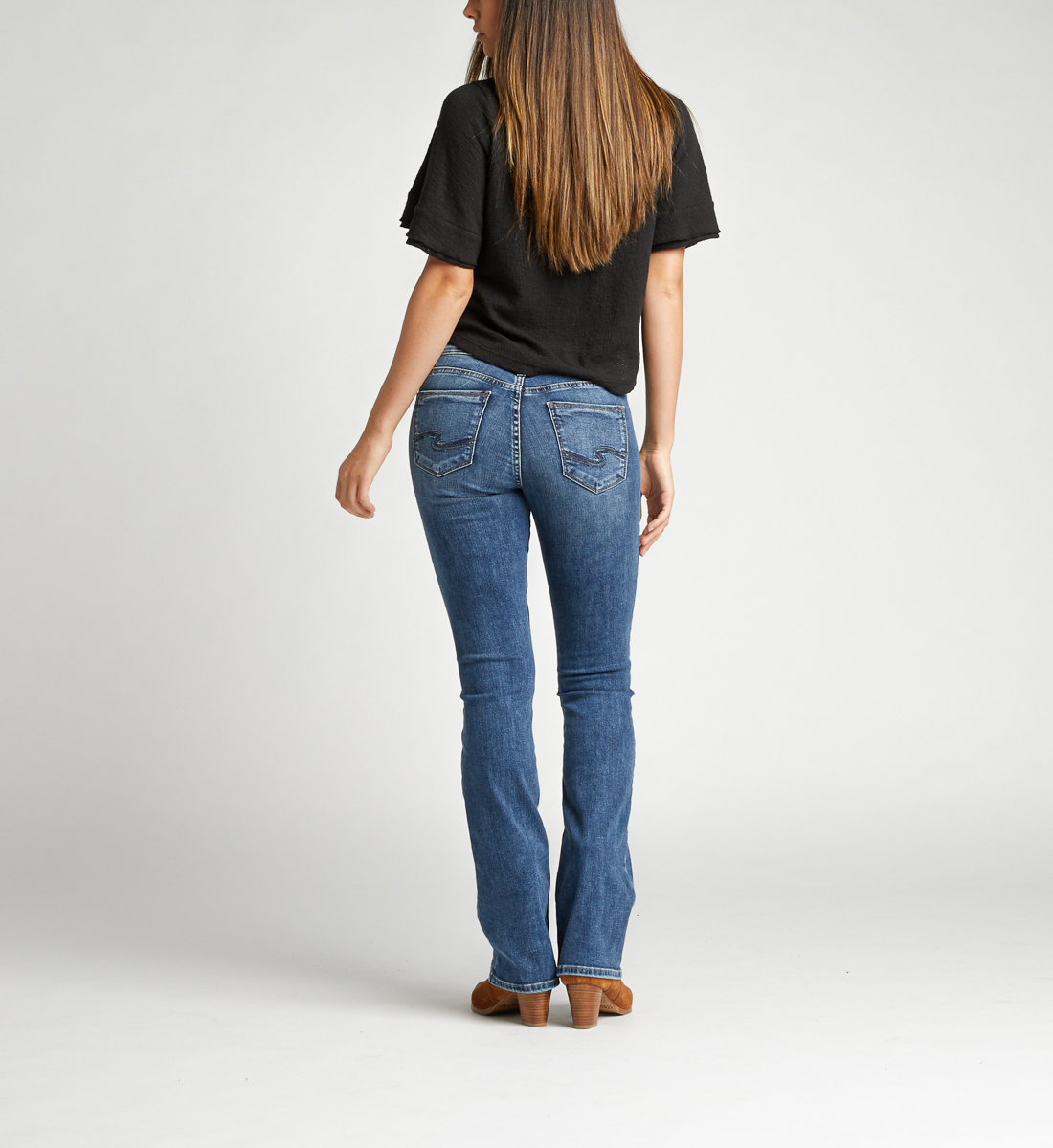 Suki Mid Rise Bootcut Jeans Back