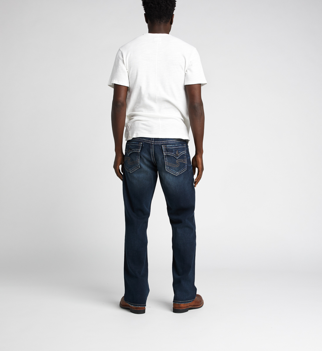 Zac Relaxed Fit Straight Jeans Back