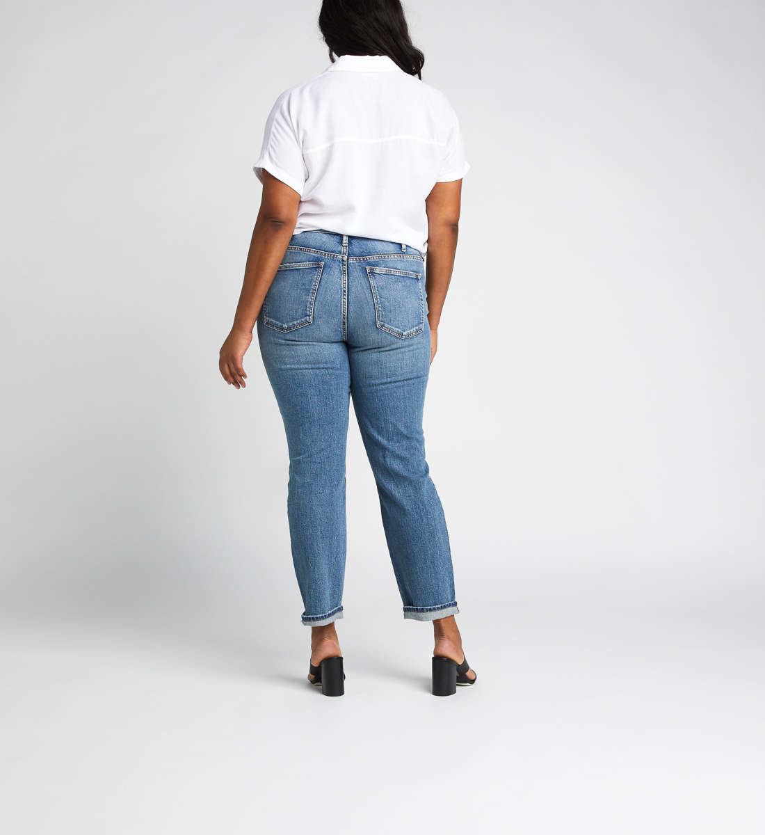 Frisco High Rise Tapered Leg Jeans Plus Size, , hi-res